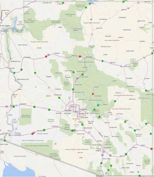 arizona rest area map