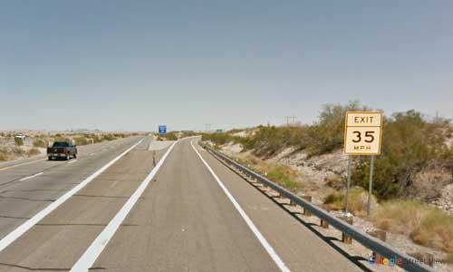 az interstate i8 rest-area exit eastbound mile marker 22
