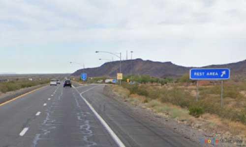 az interstate i10 rest area westbound exit mile marker 87