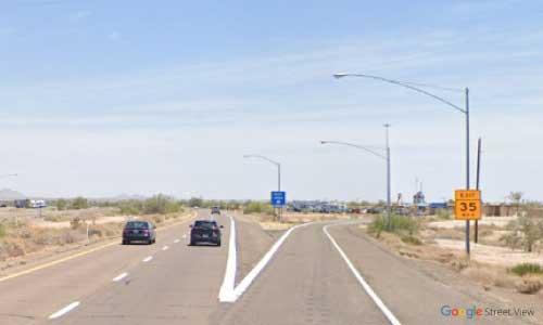az interstate i8 rest area eastbound exit mile marker 55