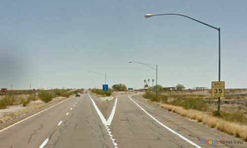 az interstate i8 rest area eastbound exit mile marker 84
