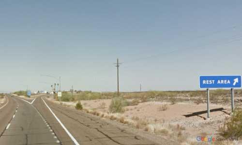 az interstate i8 rest area westbound exit mile marker 85